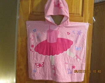 Ballerina hooded towel-poncho style-cutest towel ever