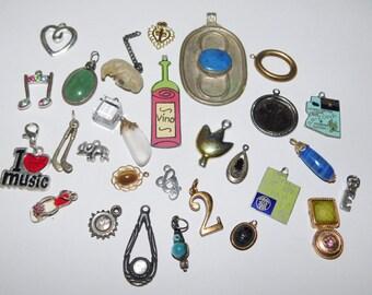 Huge Charm Destash Vintage Jewelry Lot for Wear or Repurpose