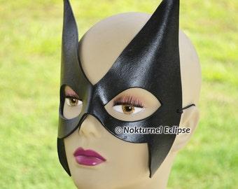 Black Huntress Superhero Leather Mask Cosplay Villain Mockingbird Batman Catwoman Geek Comic Halloween Costume - Available Any Basic Color