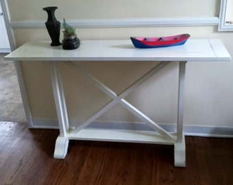 Handcrafted Solid Wood Sofa/Console Table