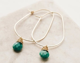 Egg Hoops with Russian Amazonite