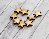Star earring findings, Geometric findings for studs, jewellery blanks, scrapbooking supplies, lasercut beads, star confetti