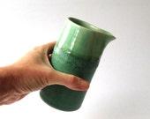 Teal green blue jug - small handmade ceramic pourer