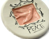 Dove Peace Pink jewelry or catch all Spoon rest Dish