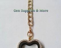 Heart  Key Chain Floating Locket, Heart Key Chain locket, Key chain floating locket, Floating locket, Floating Charms