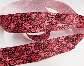 """1.5"""" Grosgrain  Wired Ribbon, Wired Ribbon, Wired Paisley Ribbon, 1.5"""" Paisley Ribbon, Paisley Ribbon, Wreath Ribbon"""