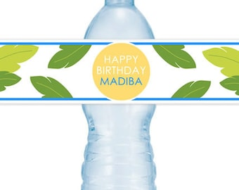 JUNGLE #Party Water #Bottle #Labels