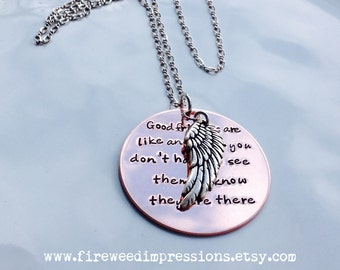 Good Friends Are Like Angels Necklace