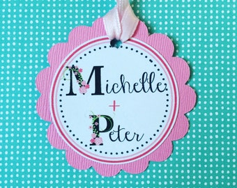 Wedding Favor Gift Tags, Baby Shower Gift Tags