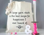A Large Yarn Stash... | Jane Austen Knitting Bag | Literary Knitting Gift | Gift For Knitters
