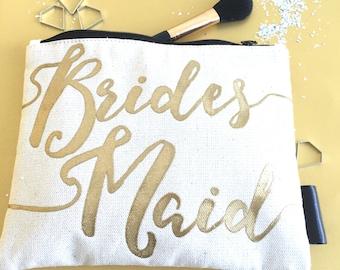 Bridesmaid Cosmetics Bag | Bridesmaid Make-Up Bag | Bridesmaid Makeup Bag | Be My Bridesmaid | Bridesmaid Thank You Gift | Bridesmaid Gift