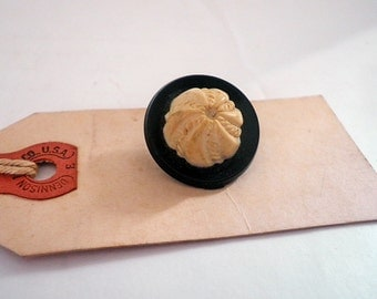 Vintage Baked Alaska Plastic Button Domed Two Piece Molded Button Sewing Collectible