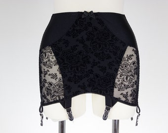 Black WANDA Open Bottom Girdle Pull On Light Control OBG size S-2XL