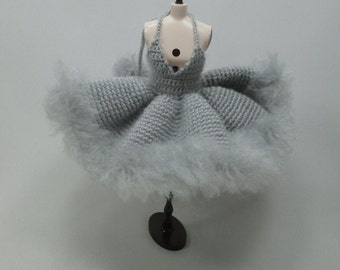 Handcrafted crochet knitting dress outfit clothes for Blythe doll # 200-54