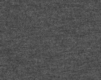 Charcoal Grey 4 Way Stretch 8oz Rayon Spandex Jersey Knit Fabric, 1 Yard