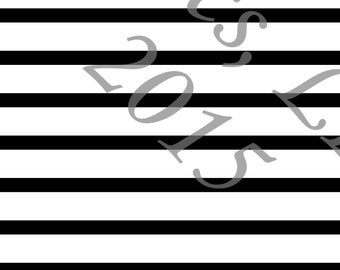 Black and White Stripe 4 Way Stretch Jersey Knit Fabric, Club Fabrics