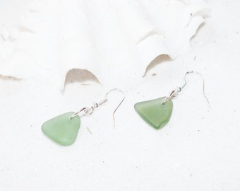 Sea Glass Earrings - Lake Erie Beach Glass - Beach Earrings - FREE Shipping inside the United States