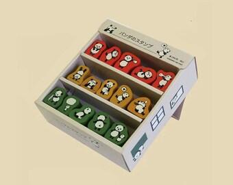 Kodomo No Kao Cute PANDA Rubber Stamp