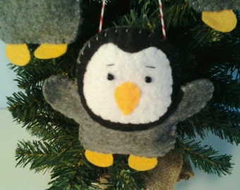 Pudgy Baby Penguin Felt Ornament