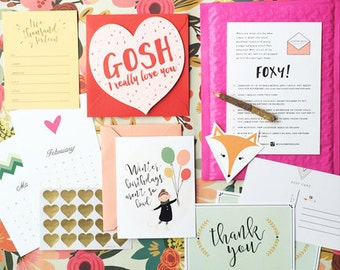 GINGER MAIL Subscription - greeting cards, stationery items mailed to you every 6 weeks!