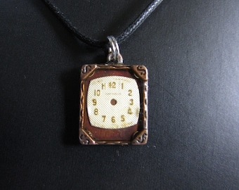 Steampunk watchface pendant necklace