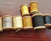 Vintage Cotton Thread wooden spools Coats & Clarks