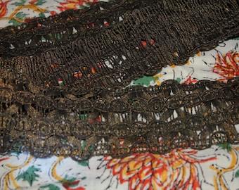 Antique Wide Metallic Lace Trim