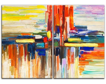ORIGINAL texture art abstract PAINTING Large acrylic painting 48 X 36 Gallery Wrap Fine Art By Tim Lam