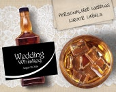 Custom Mini Bottle Favors Liquor Labels and Empty 50 mL Bottles Wedding Whiskey Alcohol Party Wedding Favors Reception Guest Gifts EB-1097