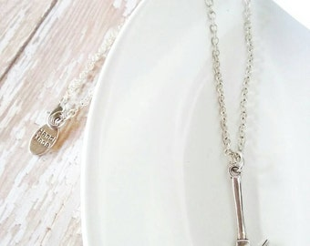 Antique silver hammer necklace - Tool necklace - Little boys necklace - Christian Necklace - Necklace for Dad - Father and son necklaces