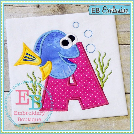Sample sale tropical fish appliqu birth number birthday for Applique shirts for sale