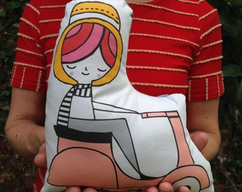 VESPA GIRL - pillow