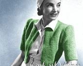 Vintage Vogue Knitting Pattern 1930s Cardigan Bolero Sweater Digital Download PDF