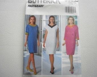 Pattern Vintage 1992 Ladies Petite Dress 3 Styles Sizes 6 to 10 Butterick V- 5982