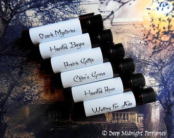 HAUNTED INNS Perfume Sampler Set - Halloween Perfume Set #9 - Fall Perfume