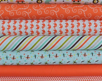 Oh Boy 7 Fat Quarters Bundle by Lori Whitlock for Riley Blake, 1 3/4 yards total