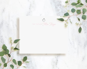 Personalized Note Card Set // The Future Mrs