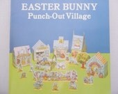 Dover Book Easter Bunny Punch-Out Village, Mint Condition - Easter Decoration