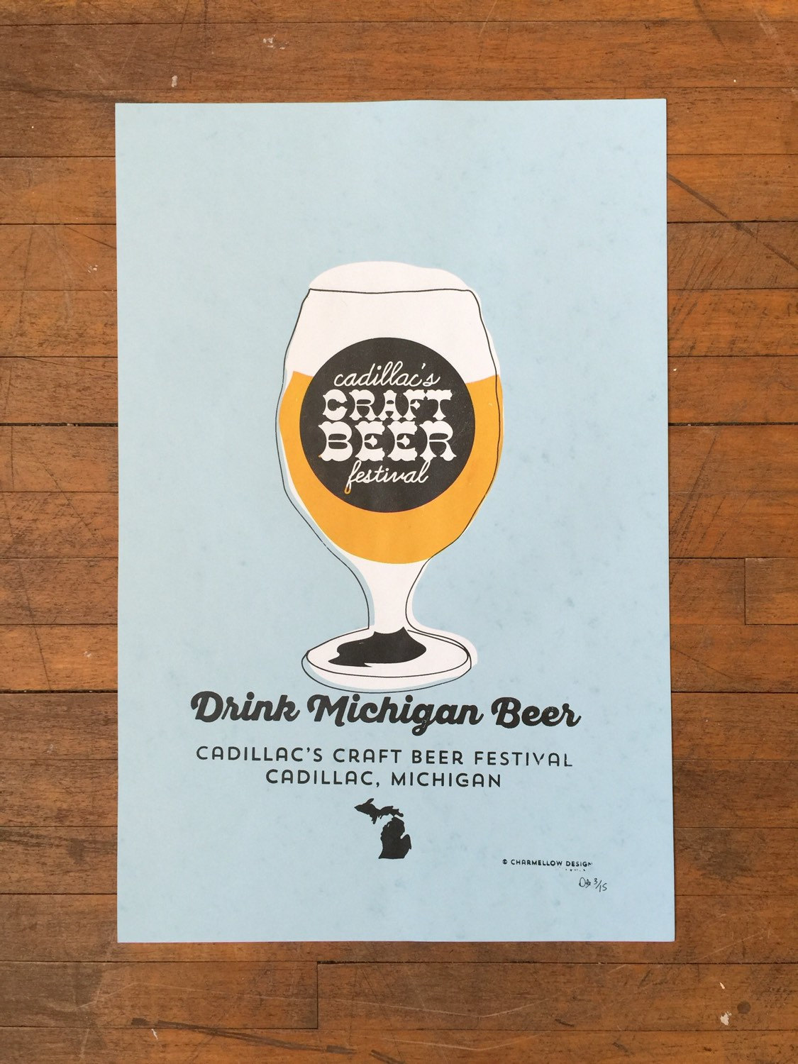 Michigan craft beer poster by charmellow on etsy for Michigan craft beer festival