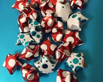 500 Paper Folded Origami Lucky Stars