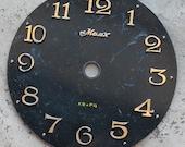 Vintage Soviet clock dial --  plastic