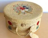 1959 Wicker Hat Box