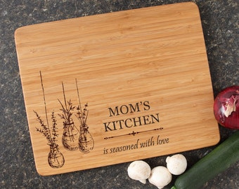 Mother's Day Personalized Cutting Board, Mom, Mother's Day Gift, Engraved Cutting Board, Bamboo Cutting Boards-15 x 12 Mother's Day D37
