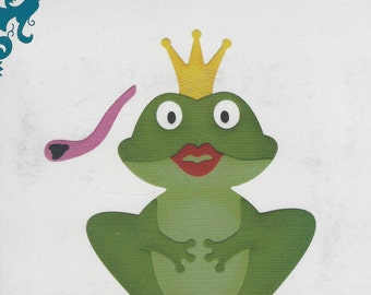 QuicKutz Pin The Lips on the Frog Revolution REV 0163 4X4 NIP Cuttlebug Sizzix Metal Die Scrapbooking Card Making Supply New in Package