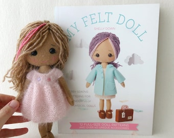 PDF Knitted Dress Pattern for Gingermelon My Felt Doll