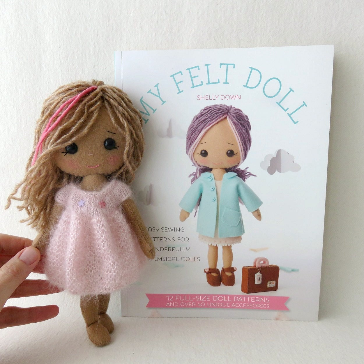 Pdf knitted dress pattern for gingermelon my felt doll for Felt dress up doll template