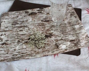 "Placemat, using ""Savoy Birch Cream"" fabric by Martha Flood Design"