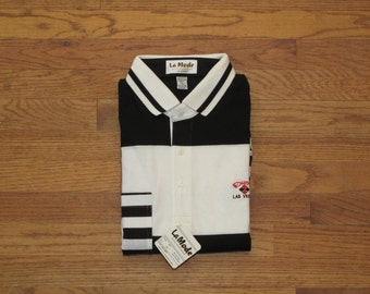 mens vintage dead stock Dunes casino polo shirt