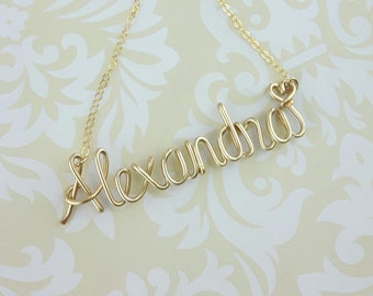 FREE SHIPPING! Name Necklace, Any Custom Name Necklace, Personalized Name Necklace, Bridesmaid Necklace, Personalized Name Jewelry Gifts