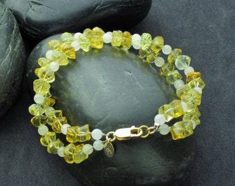 Citrine and Moonstone Bracelet